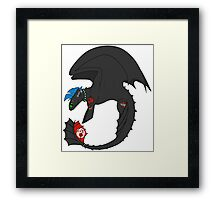 Punk my Toothless - No Glow Framed Print