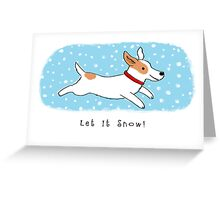 Snow Dog Holiday Greeting Card