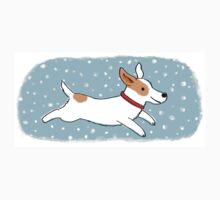 Snow Dog Holiday One Piece - Short Sleeve