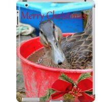 All I Want For Christmas - Rescued Duck - NZ iPad Case/Skin
