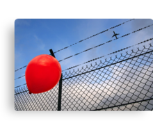 barbed freedom Canvas Print