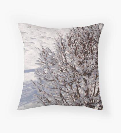 Crystalised bush Throw Pillow