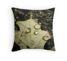 Fall Droplets Throw Pillow