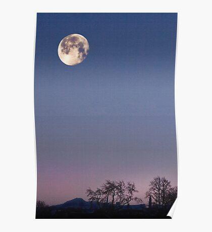 Winter Moonrise II Poster