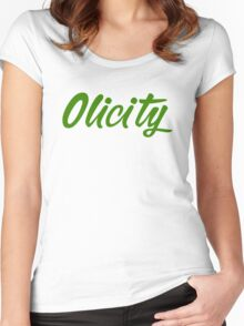 Arrow- Olicity Women's Fitted Scoop T-Shirt