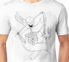 Skelly with a scythe    Unisex T-Shirt