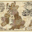 Antique UK Map by robotplunger