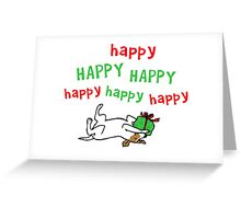 Jack Russell Happy Christmas Greeting Card