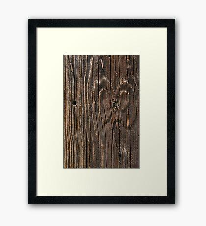 Weathered Wood  Framed Print