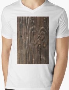 Weathered Wood  Mens V-Neck T-Shirt