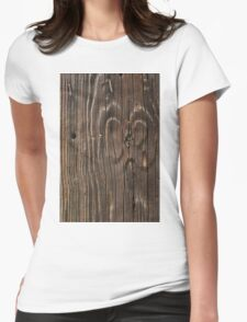 Weathered Wood  Womens Fitted T-Shirt