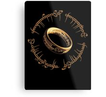 Lord of the Rings Marathon Design Metal Print