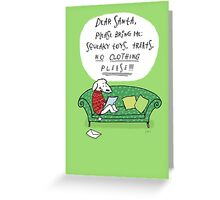 A Dog's Letter to Santa Greeting Card