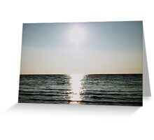 Sunset over Morecambe bay Greeting Card
