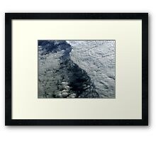 Cloud Wall Framed Print