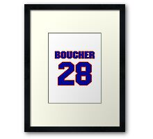 Hey, you must be a big fan of Boucher, if not pls search for your favourite players jersey to wear it proudly.  Framed Print