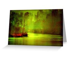 Mystic River Morning Greeting Card