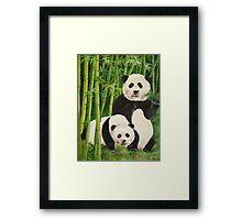pandas 2 Framed Print