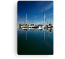 Boats And Masts Canvas Print