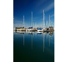 Boats And Masts Photographic Print