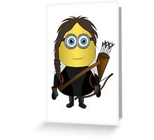Katniss Hunger Games Minion Greeting Card