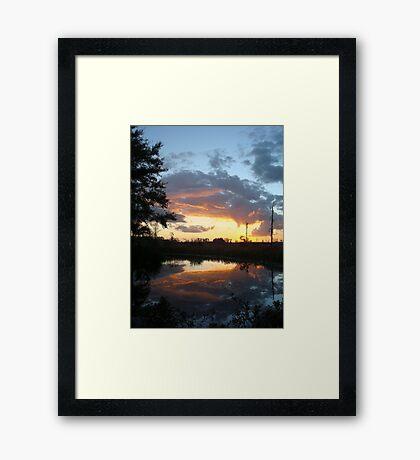 December Sunset 2014 Framed Print