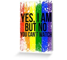 Yes, I am but no, you can't watch Greeting Card