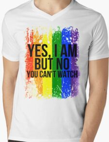 Yes, I am but no, you can't watch Mens V-Neck T-Shirt