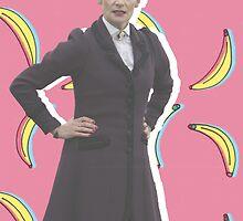 Missy is Bananas! - Doctor Who | #InfiniteTARDISMerch by infinite-tardis