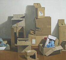 composition with old boxes by MiguelNunez