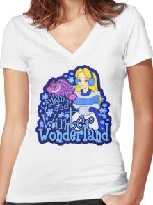 Winter Wonderland Women's Fitted V-Neck T-Shirt