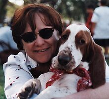 Anne & pooch by John Hansen