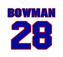 National Hockey player Kirk Bowman jersey 28 by imsport