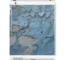 Blue Peeling Paint on Cement iPad Case/Skin