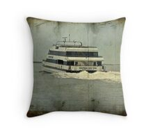 Seastreak Catamaran - Ferry From Atlantic Highlands to NYC Throw Pillow