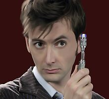 medico ritratto David Tennant Rose Tyler tardis lupo Cattivo by paoloballe