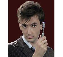 medico ritratto David Tennant Rose Tyler tardis lupo Cattivo Photographic Print
