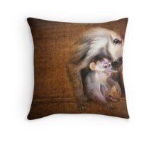 Monkey, monkey Throw Pillow