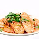 Thai Garlic Prawns by Alexander Gitlits