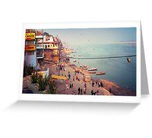 Life on the Ghats of Varanasi - Varanasi, India Greeting Card