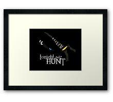 Tonight we HUNT - Rengar [black background] Framed Print