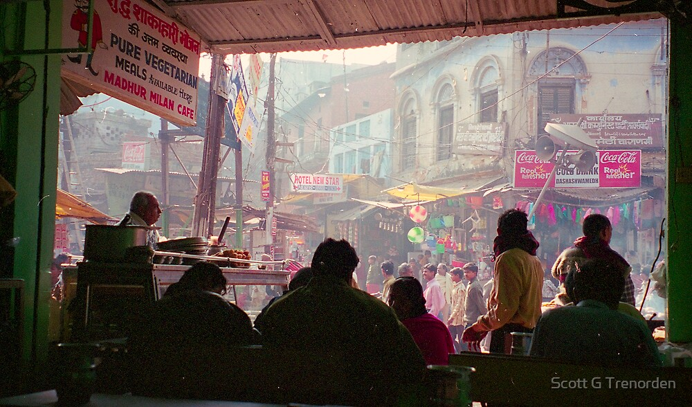 View from a Cafe - Varanasi, India by Scott G Trenorden