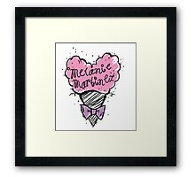 MM Cotton Candy heart Framed Print