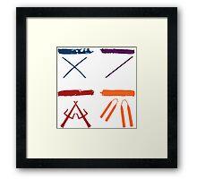 TMNT all icons! Framed Print