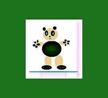 TEDDY BEAR ART gifts and decor, tan and green by ackelly4