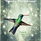 Christmas Hummingbird by Barbara Manis