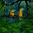 Two Macaws by Walter Colvin