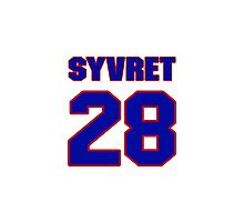 Hey, you must be a big fan of Syvret, if not pls search for your favourite players jersey to wear it proudly.  Photographic Print