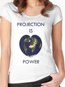 Projection is power Women's Fitted Scoop T-Shirt