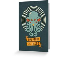 Cthulhu, Dreamer in the Deeps Greeting Card